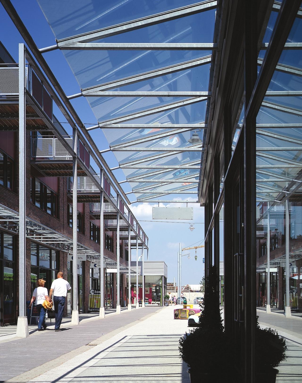 Studio leon thier winkelcentrum getsewoud - Luifel glas ...